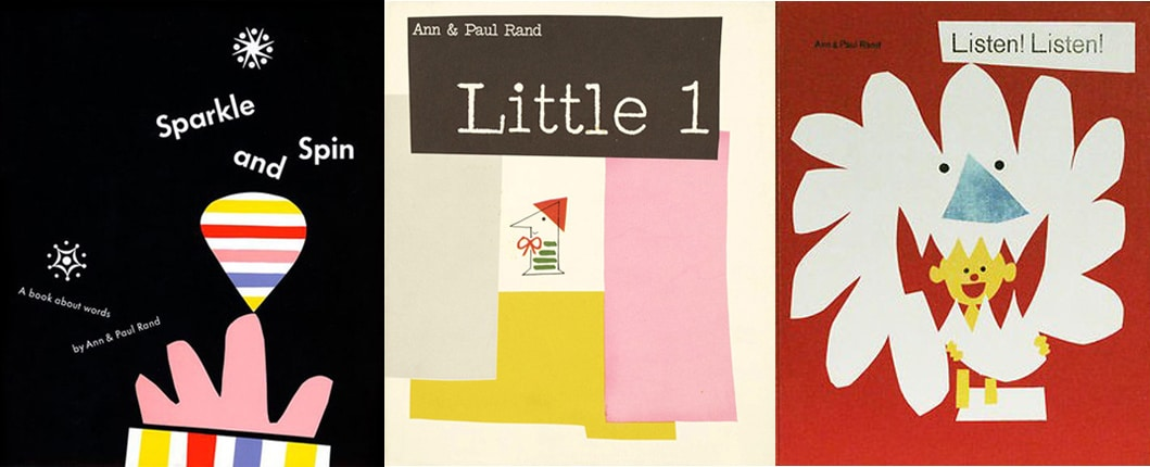 Portadas de tres álbumes ilustrados de Ann y Paul Rand