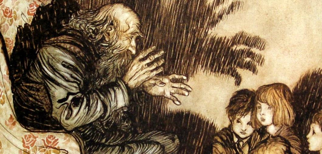 los cuentos de terror se cuentan tradicionalmente a los niños