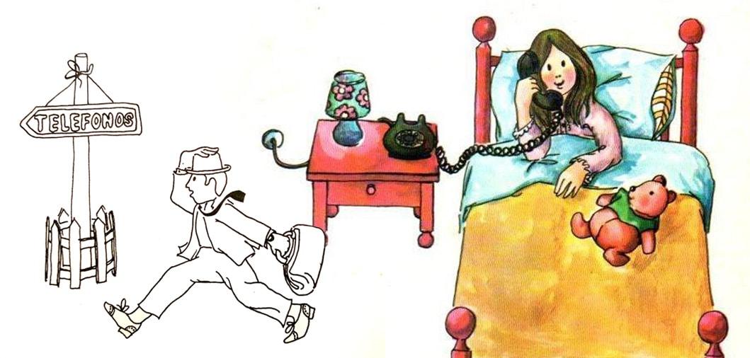 Ilustración cuentos por teléfono de Rodari