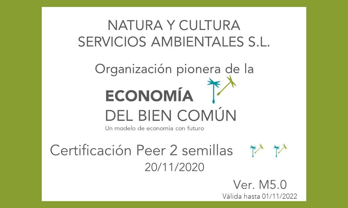 Certificat EBC de Natura i Cultura